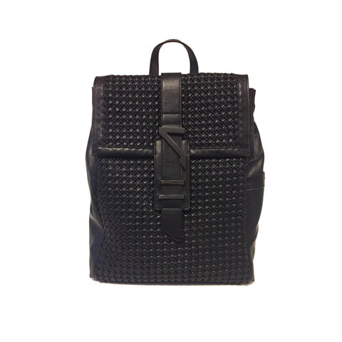 ETERNAL NOIR NAPA WOVEN LEATHER BACKPACK
