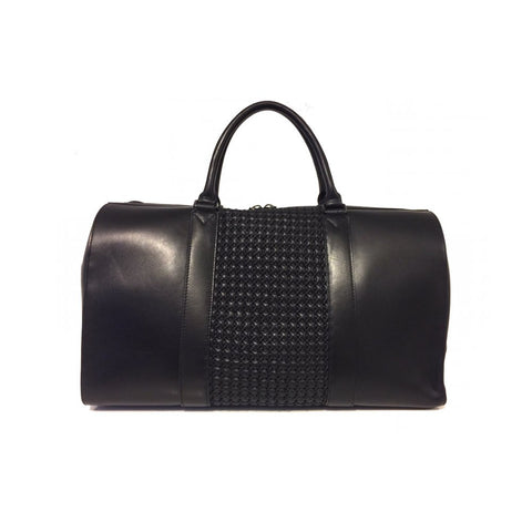 ETERNAL NOIR NAPA WOVEN LEATHER DUFFLE BAG