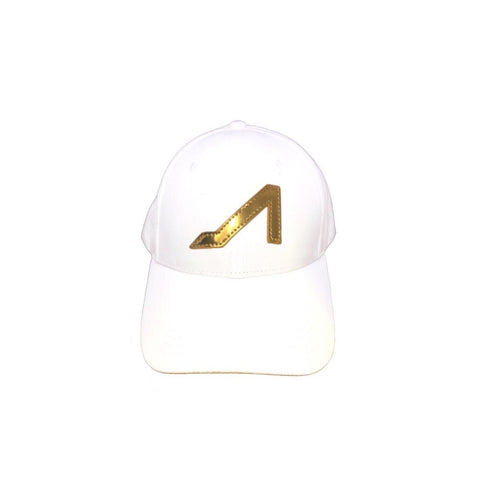 APOLINAR WHITE ULTRA-SUEDE HAT W/ GOLD LOGO
