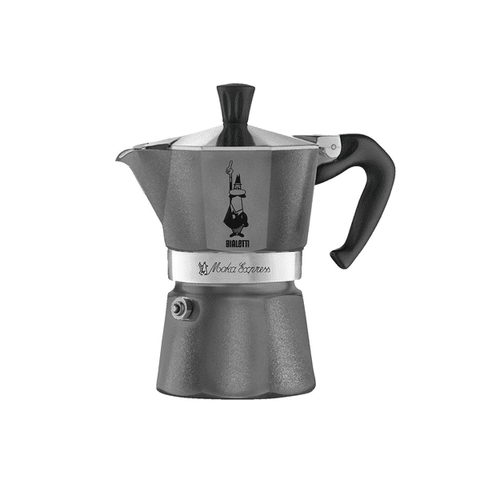 Cafetière italienne Bialetti Moka Color - 6 tasses - Anthracite