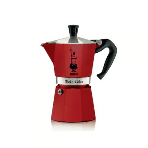 Cafetière italienne Bialetti Moka Color - 3 tasses - Rouge