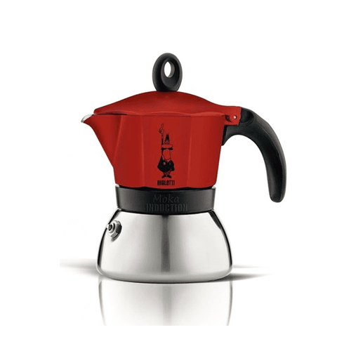 Cafetière italienne Bialetti Moka Induction - 3 tasses - Rouge