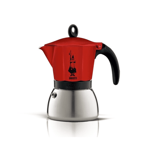 Cafetière italienne Bialetti Moka Induction - 6 tasses - Rouge