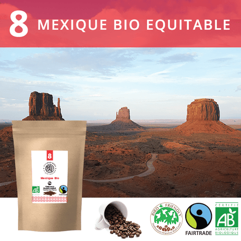 Café en grains Bio Mexique Equitable Bird Friendly Label 1Kg