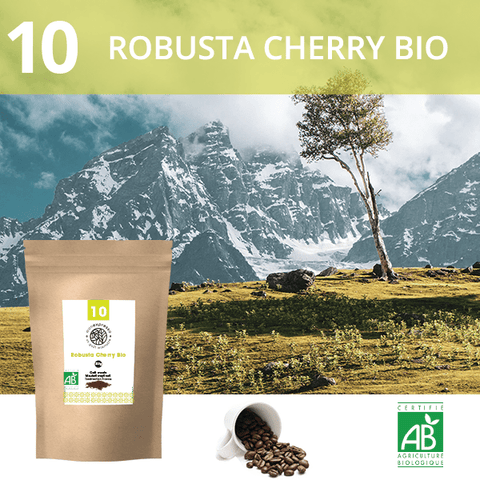 Café en grains Bio Robusta Cherry 1Kg