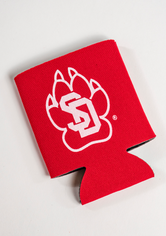 Red SD Paw Koozie
