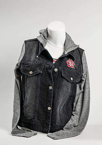 SD Paw Black Denim Vest