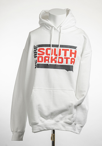White We Are South Dakota Hoodie