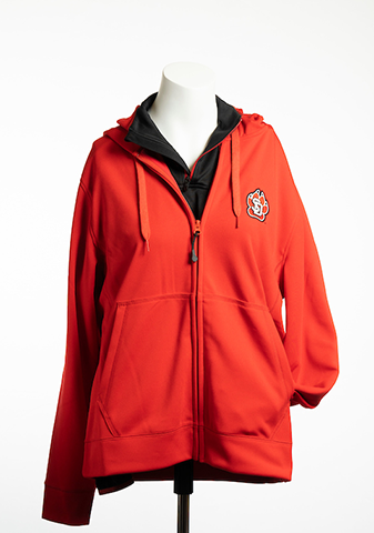 Men's Full Zip Hoodie Red SD Paw