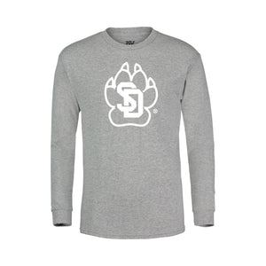 Youth Long Sleeve Tee with the SD Paw