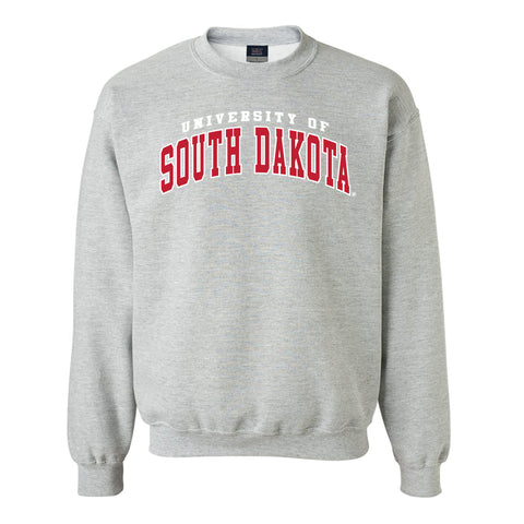 Comfort Fleece Crew with University of South Dakota Logo