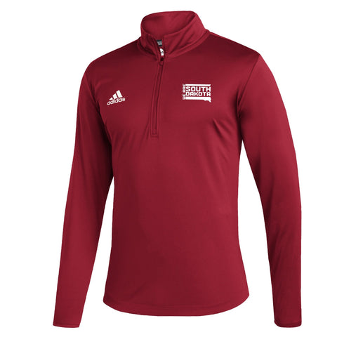 Men's Red 1/4 Zip Under the Lights
