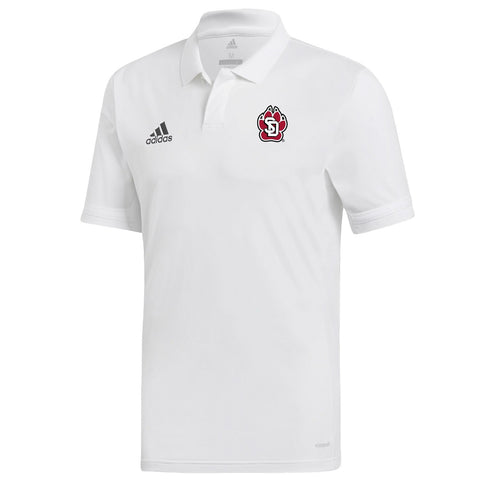 Adidas White Polo Team 19 with Arm Stripe