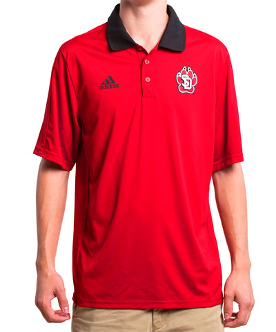 Red & Black Adidas South Dakota Coyotes Coach's Polo