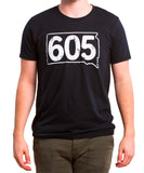Heather Black 605 Tee