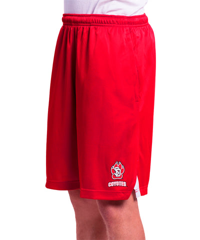 South Dakota Coyotes Nike Red & White Athletic Shorts