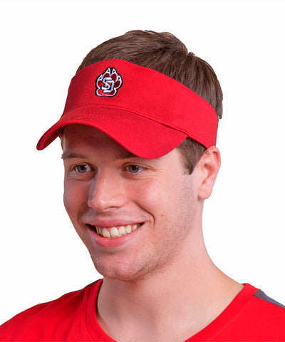 Adidas South Dakota Coyote Red Visor with SD Paw