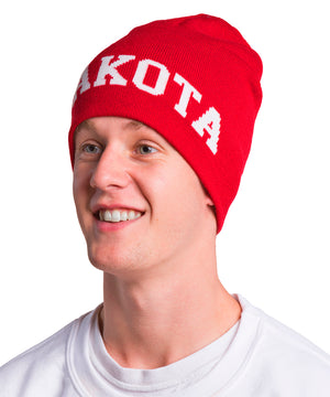 Load image into Gallery viewer, Red Knit South Dakota Beanie