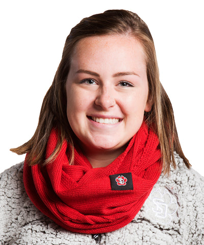 Adidas South Dakota Coyotes Red Cable Knit Infinity Scarf