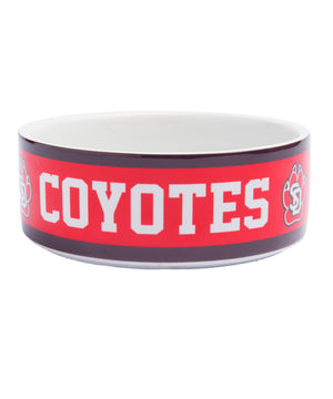 South Dakota Coyotes Ceramic Coyotes Pet Dish