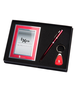 Load image into Gallery viewer, South Dakota Coyotes Red USD 3-Piece Frame, Keytag & Pen Set