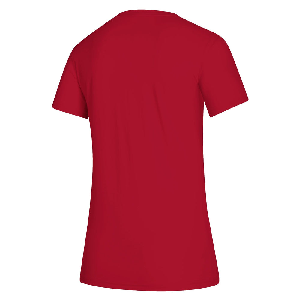 Adidas Women's Red Performance Tee