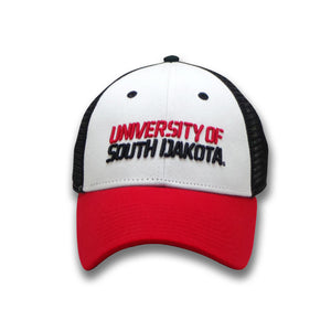 Load image into Gallery viewer, Adjustable Unisex Trucker Hat University of South Dakota