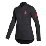 Black and Red Women's Full-Zip Adidas Jacket