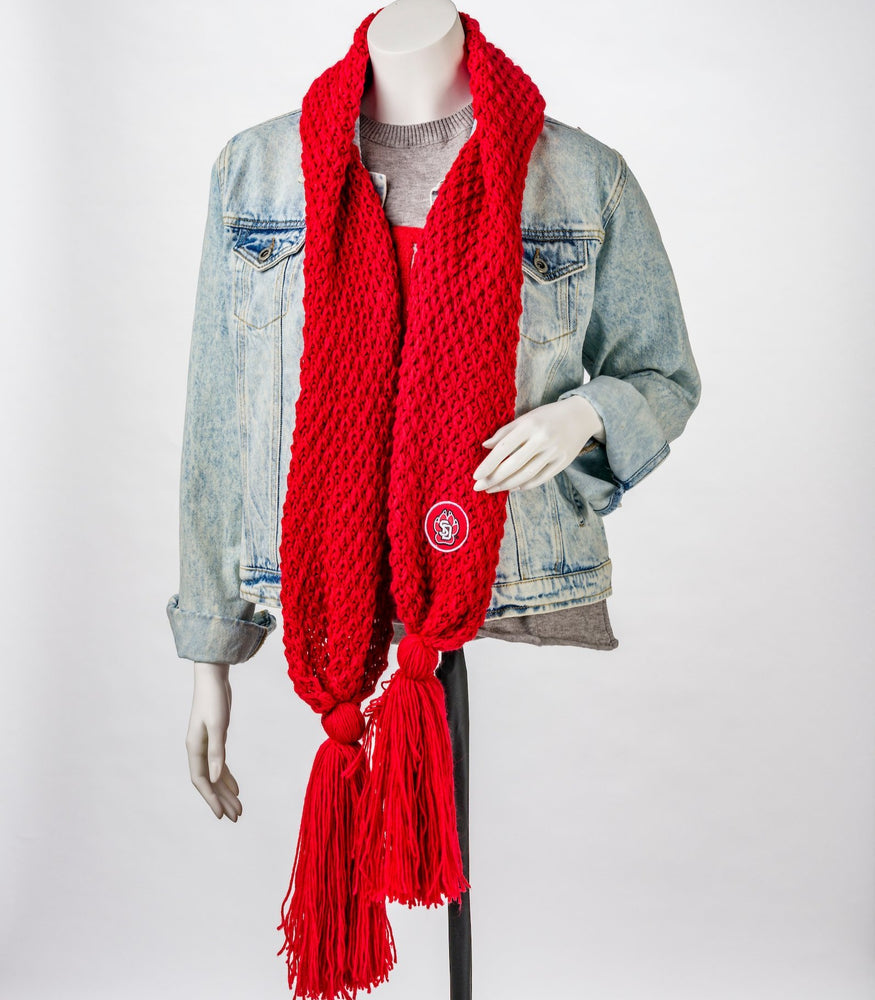 Bundle Up Red Scarf SD Paw