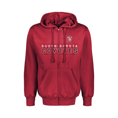 Classic Fleece Red Full Zip Hoodies