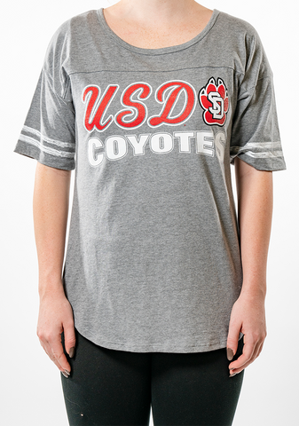 Grey USD Paw Coyotes Tee