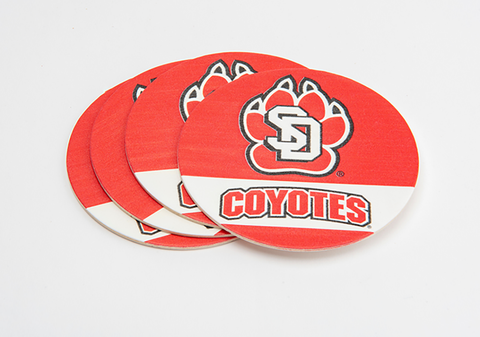 South Dakota Coyotes Paper SD Paw Coasters