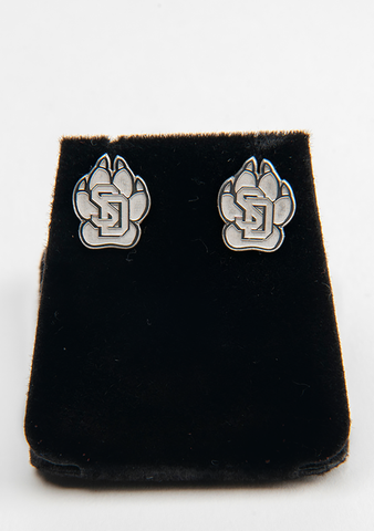 Sterling Silver SD Paw Earrings