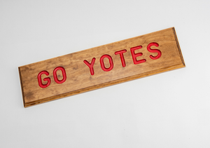 Go Yotes Wood Sign