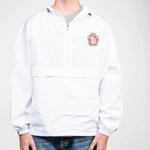 1/4 Zip SD Paw Wind Breaker White