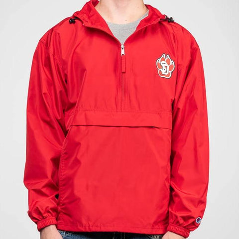 1/4 Zip SD Paw Wind Breaker Red
