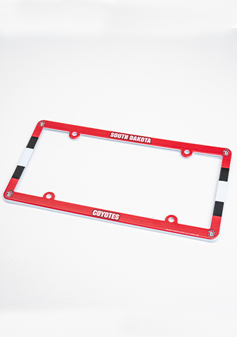 Red South Dakota Coyotes License Frame