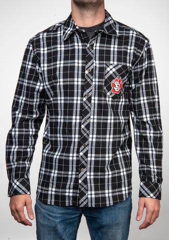 SD Paw Black Flannel