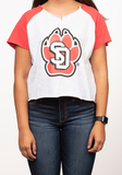 South Dakota Coyotes Sweatshirt Tee SD Paw