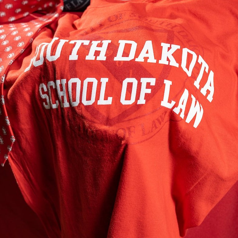 Load image into Gallery viewer, Unisex Red Tee South Dakota School of Law