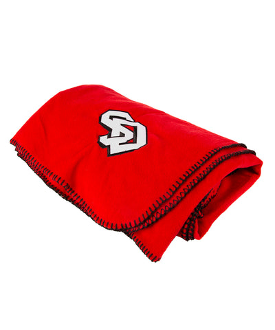 SD Red Throw Blanket