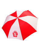 South Dakota Coyotes Red & White Umbrella with SD Paw