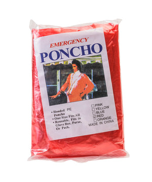 Red Gameday Poncho