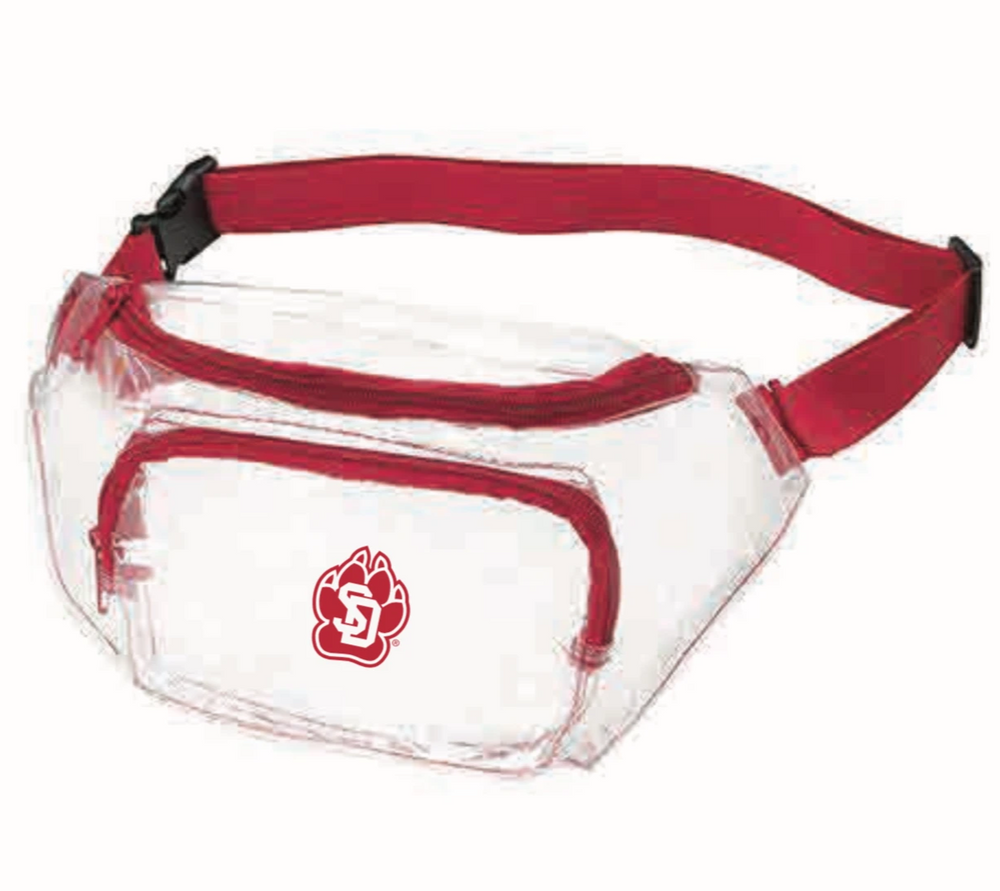 Load image into Gallery viewer, Clear Plastic Fanny Pack USD/Coyotes