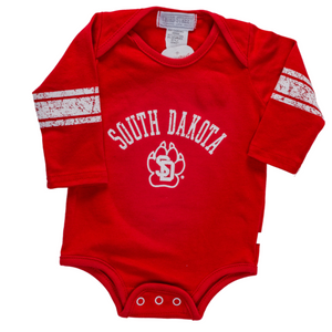 Coyotes Over South Dakota Longsleeve Onesie