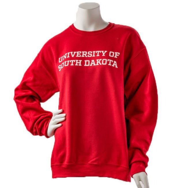 Unisex Downtown Screen Printing 50/50 Blend University of South Dakota Crew