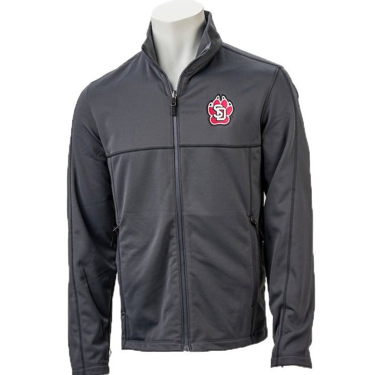 Men's Jacket CI Sport Gray in Smooth Fleece with Full Zip and left Chest SD Paw