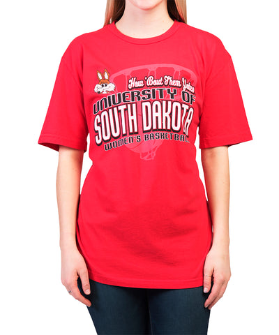 Red How 'Bout Them Yotes Women's Basketball Tee