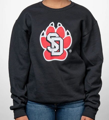 Black SD Paw Crewneck