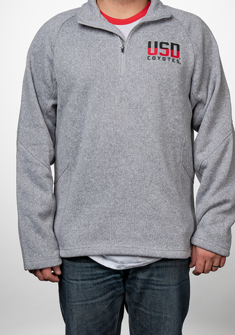 Grey Quarter Zip Ombre USD